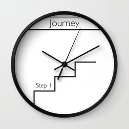 How to Take A Journey Wall Clock
