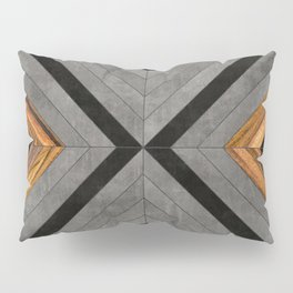 Urban Tribal Pattern 2 - Concrete and Wood Pillow Sham