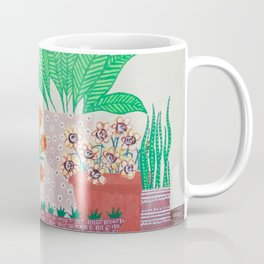 Plants in Printed Pots Coffee Mug