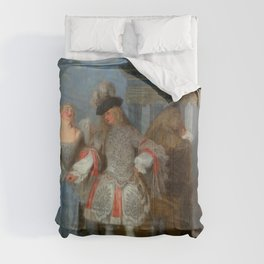 """Antoine Watteau """"The French Comedians"""" Comforters"""