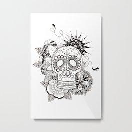 Calaca Metal Print