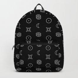 Gemini/Cancer + Sun/Moon Zodiac Glyphs Backpack