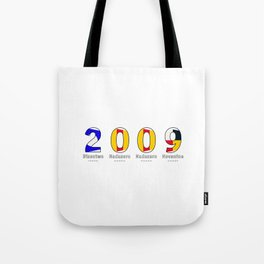 2009 - NAVY - My Year of Birth Tote Bag
