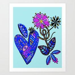 Let Your Heart Bloom Art Print
