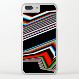 Distorted Lines Clear iPhone Case