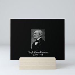 portrait of Ralph Waldo Emerson Mini Art Print