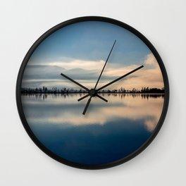 Sunrise over Osoyoos lake British Columbia Canada  Wall Clock