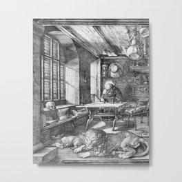 Saint Jerome in His Study by Albrecht Dürer Metal Print