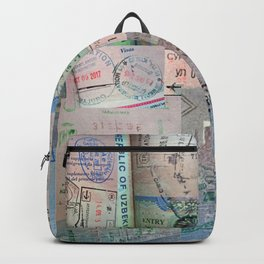 A Celebration of Passport Stamps Backpack