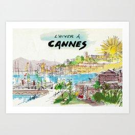 Winter In Cannes Art Print
