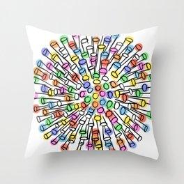 Colorful abstract light ball Throw Pillow