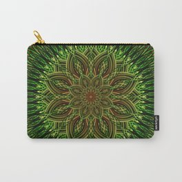 Earth Flower Mandala Carry-All Pouch