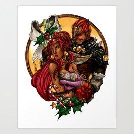 Ganondorf & Nabooru Xmas Art Print