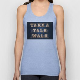 Take a Talk Walk - Wall-Art for Hotel-Rooms Unisex Tank Top