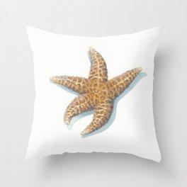 Dried Sea Star Throw Pillow