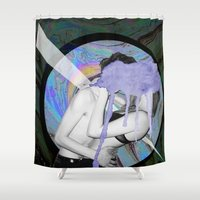 lovers Shower Curtains featuring Lovers by G-Fab