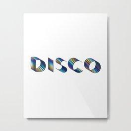 DISCO || #society6 #disco #decor Metal Print