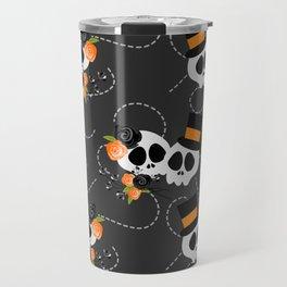 Skull Couple,Halloween Style Travel Mug