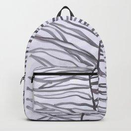 watercolor spiral leaves 6 Backpack