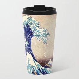 Katsushika Hokusai The Great Wave Off Kanagawa Travel Mug