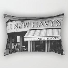 Le New Haven Restaurant - Black and White Version Rectangular Pillow