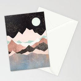 Midnight Stars Stationery Cards