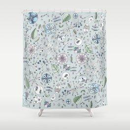 Globos en el jardín Watercolor Shower Curtain