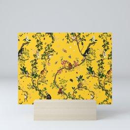 Monkey World Yellow Mini Art Print