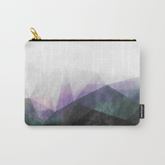 On the mountains- green watercolor - triangle pattern Carry-All Pouch
