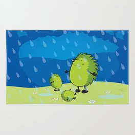 happy when it rains Rug