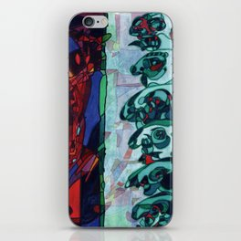 A Committee Looks Upon The Vortex (Maelga Turquoise Turbulante) iPhone Skin