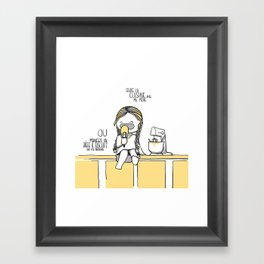 Souvenirs - Baking  Framed Art Print