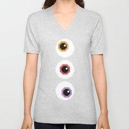 Pixel Eyeballs Unisex V-Neck