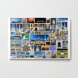 zayed mosquée Metal Print