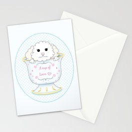 Cup of love Stationery Cards