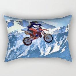 Mountain View - Dirt-bike Racer Rectangular Pillow