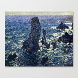 Claude Monet - The Pyramids, Cliffs at Belle-Ile Canvas Print