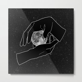 Hold the Moon Metal Print