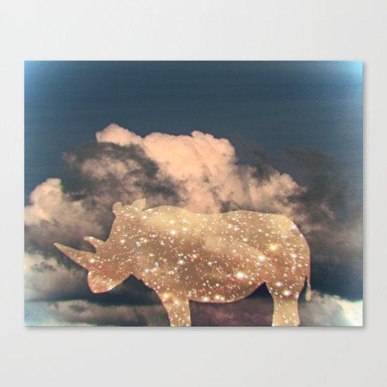 rhino sky Canvas Print