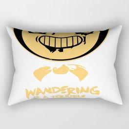 Wandering is a terrible sin. Rectangular Pillow