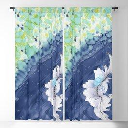 Ocean Blooms: Abstract, Nature, Spring Blackout Curtain