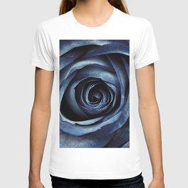 Blue Rose Bloom Decorative T-shirt