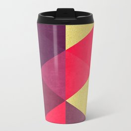 Colorful and golden geometric triangles IV Travel Mug