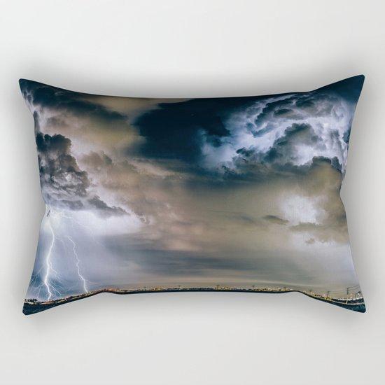 Lightning #clouds Rectangular Pillow