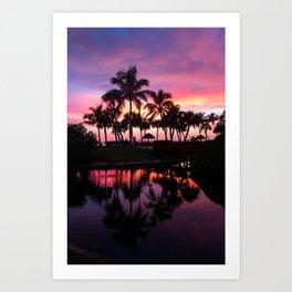 Sanibel Island Sunset at Pointe Santo Art Print