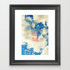 Looking Past the Rain Framed Art Print