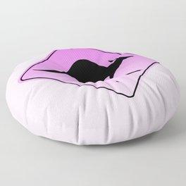 Danger Kangaroos Pink Sign Floor Pillow