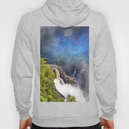 Wild waterfall in abstract Hoody
