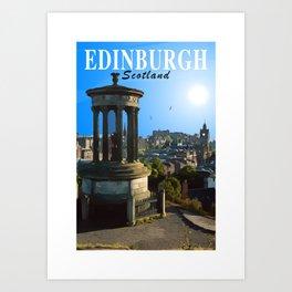Calton Hill - City of Edinburgh Art Print