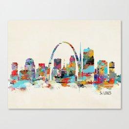 saint louis missouri skyline Canvas Print